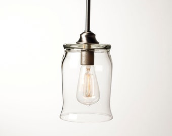 Pendant Light Fixture - Edison Bulb - Barrel