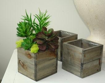 wood box wood boxes square wood vase succulents wedding flower pot centerpiece woodwork rustic garden wedding boxes