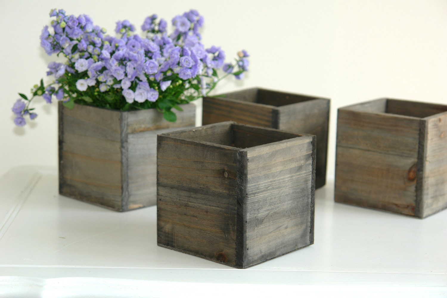 wood box wood boxes woodland planter flower rustic by