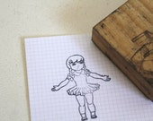 Vintage Doll Rubber Stamp Old School Stamp - CakeNumber9