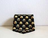 Vintage Silk Necktie Givenchy 1980s Elephant Mens Accessories Black Yellow Italy Spring Summer Fun Necktie Wedding Tie
