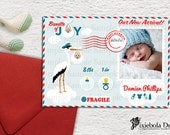 Stork Special Delivery Birth Announcement   (Design Fee)