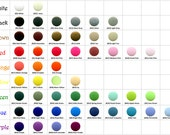 100 Sets KAM Plastic Resin Snaps For Crafts, Baby, Clothes, Bibs, Diapers and Scarves - Choose Your Color