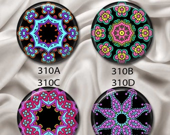 """Intricate Mandalas I  - Interchangeable Magnetic Design Inserts - FIT Clique and Magnabilities 1"""" Jewelry Bases...310"""