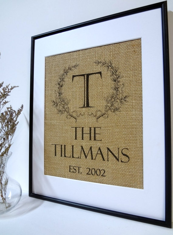 Etsy Personalized Wall Decor : Burlap art wall decor personalized by burlapartbyelizabeth