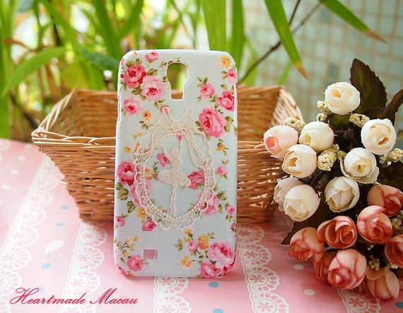 items similar to diy handmade cloth art phone case alice and rose garden for apple iphone. Black Bedroom Furniture Sets. Home Design Ideas