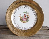Antique China Plate Decorative Edgewood Victorian 18th Century Print