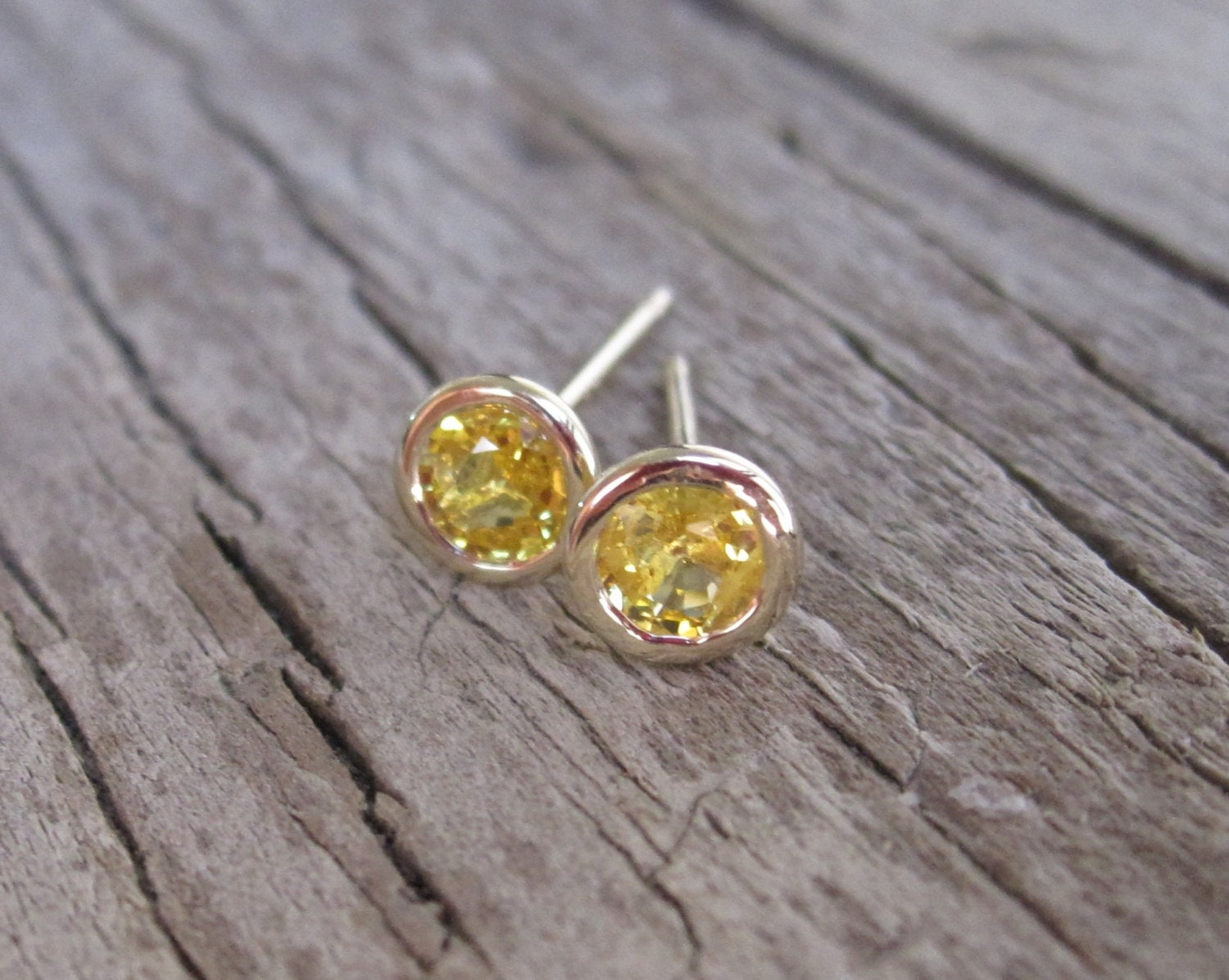 Yellow Sapphire Bezel Stud Earrings In 14k Gold By Studio1040. Embroidery Bracelet. Wholesale Sterling Silver. Pure Gold Earrings. Black Bracelet. Women Band. Green Face Watches. Tri Color Gold Bracelet. Military Royale Watches