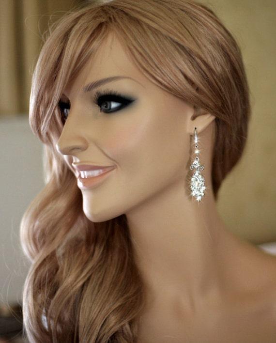vintage inspired bridal earrings wedding by