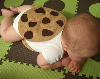 PDF Sewing Pattern - Felt Chocolate Chip Cookie Chipwich Infant Halloween Costume
