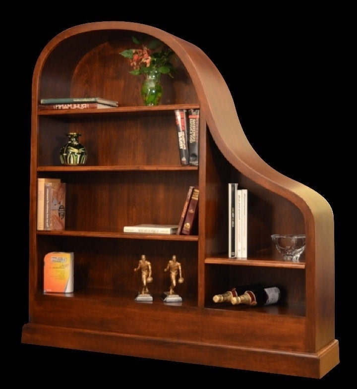 the original baby grand piano bookcases in by. Black Bedroom Furniture Sets. Home Design Ideas