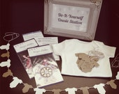 DIY Bodysuit Party Set - Custom Decals, Banner and Gift Tags
