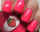 Neon Shimmer Jelly Strawberry Nail Polish