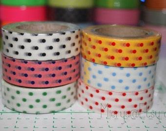 On Sale Washi Tape Set - Japanese Washi Tape - Masking Tape - Deco Tape - 6 Rolls - WTS2033