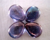 4 Picasso LUMI AMETHYST Czech Glass Tear Drop beads, side drilled