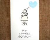 God Son Card To my lovely Godson   A handmade greeting card