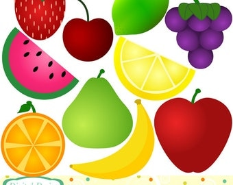 10 clip art Fruit. INSTANT DOWNLOAD for Personal and commercial use.