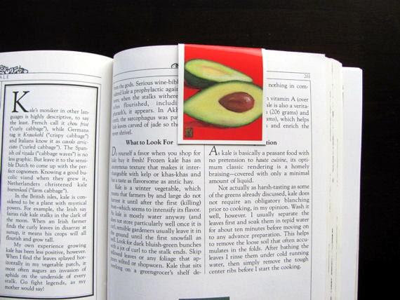 3 Recipe Markers, Stocking stuffer, Party favor, Housewarming gift, Avocado, Bright Red, Avocado Green