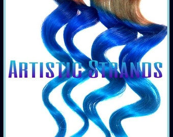 Mermaid Hair/ Clip In Hair Extensions/ Dip Dyed /4 piece set