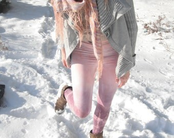 Yoga Leggings Rose and Lilac Tie Dye