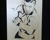 Mike tyson Wooden portrait wall art