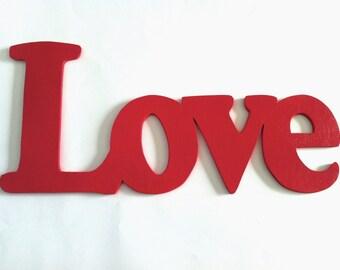 Love wooden  letters word custom 0.5 handmade wall art