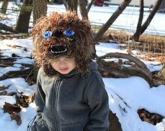 Crochet   wolf  hat.