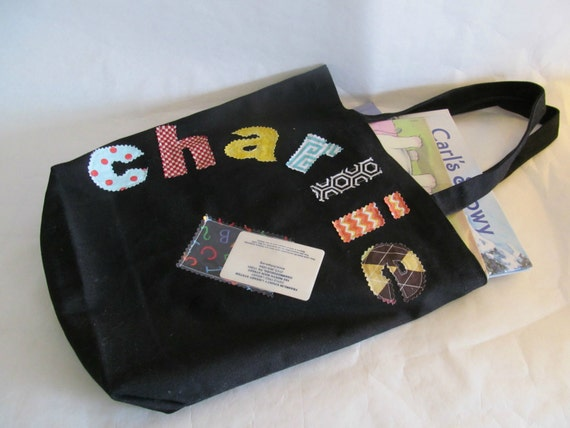 Personalized Child's Library Tote Bag - With Library Card Holder