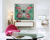40x48'' Extra Large Original Oil Painting / Made To Order - The Butterfly Escape