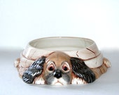 Customized Ceramic Dog Food or Water Bowl - 8.5 inches wide, hand made