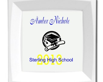 Personalized Graduation Plate