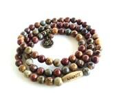 Om Wrap Bracelet, Namaste Jewelry, Yoga Jewelry, Meditation Jewelry, Yoga Jewelry Gift, Namaste Bracelet, Gypsy Bracelet, Prayer Gift