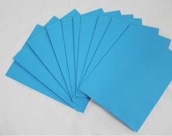 10 Bright Blue 4x6 Invitation Envelopes - set of 10 - size A6 4-3/4 x 6-1/2