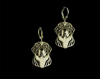 St. Bernard earrings - Gold