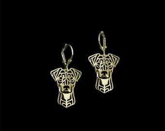 German Pinscher earrings - Gold