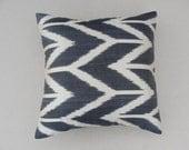 "Modern Home Decor, Ikat Pillow Cover 15."" X 15."",Ikat Pillow,Decorative Pillow,Vintage Ikat Pillow"
