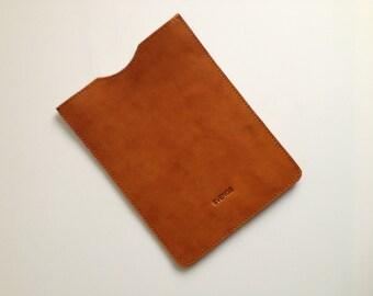 Leather ipad mini case, Leather ipad mini sleeve, Leather mini sleeve, mini ipad sleeve