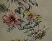 New Barkcloth Floral Stripe by Trendex Fabrics Ltd   ON SALE