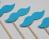 STACHE STICKS Sky Blue (Set of 7 hand cut stache sticks)