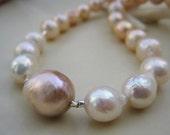 "14"" strand of ombre multi-coloured pastel kasumi lookalike pearls"