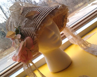 Vintage Women's Floral Hat