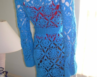 Blue Lagoon Lace Cardigan / Made to Order