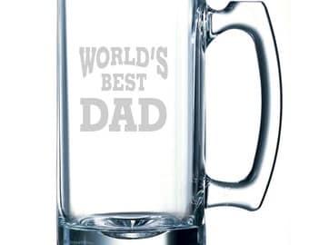Father's Day Beer Mug / Pub Glass