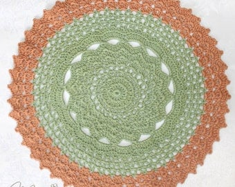 "Crochet Handmade Doily (10"" in diameter) / Vase Doily / Unique Doily / Elegant Home Accents / Table Centerpiece Decoration"