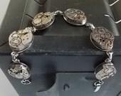 Steampunk Watch Movement Bracelet