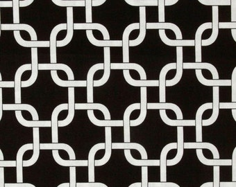 "Black and White Table Runner-BLack Party TableRunner.Black Chainlink Runner.Black Placemat. 48"", 60"",72"",84"",96"" Runner or 12 x 18""Placemat."