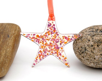 Fused Glass Star Suncatcher - Ornament