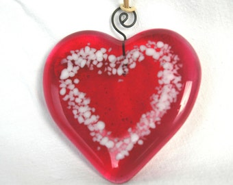 Small Fused Glass Heart