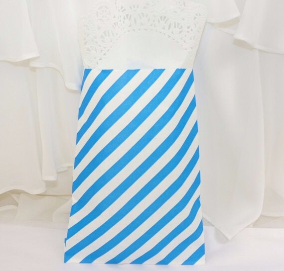 Candy Stripe Royal BLUE Party Favor Bags 24 Perfect for your Candy ...