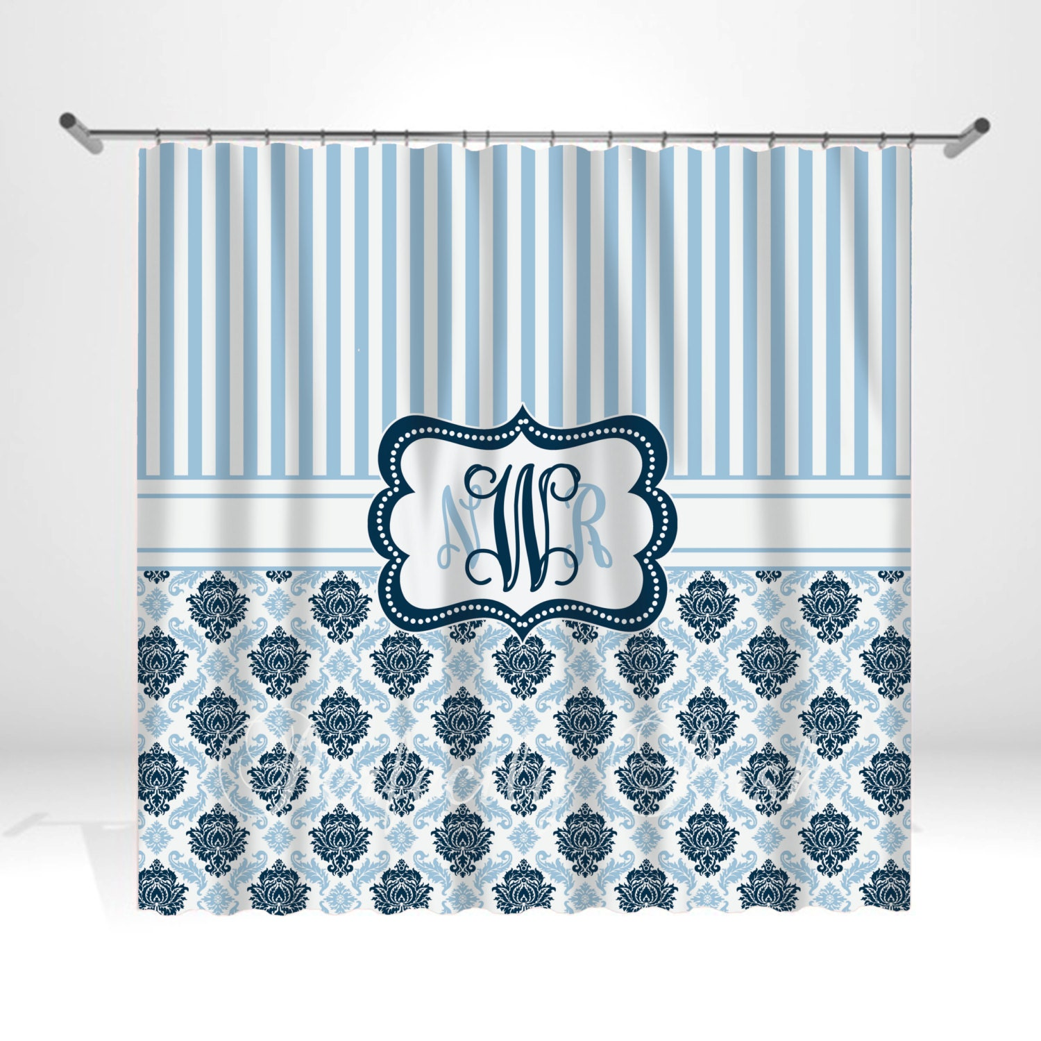 Monogrammed Shower Curtain Products I Love Pinterest Monogrammed Shower Curtain Home Design